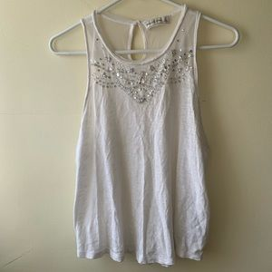 Abercrombie & Fitch White Tank Top With Sequins